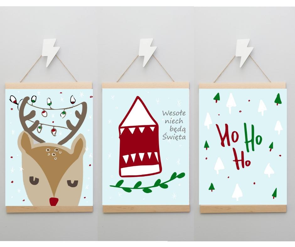 Zimowe Plakaty świąteczne Do Samodzielnego Wydruku Plakatówka
