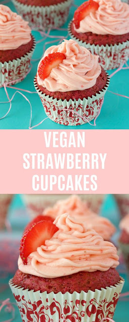 VEGAN STRAWBERRY CUPCAKES