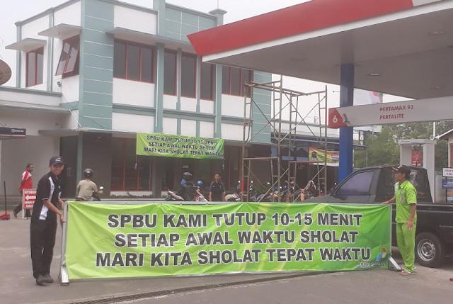 SubhanAllah... SPBU di Cimahi Ini Tutup Saat Jam Shalat: Biar Omset Berkurang, Ibadah No1