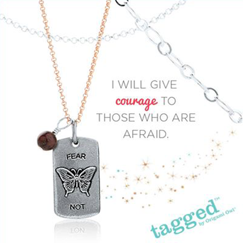 Fear Not Accent Tag from Origami Owl | Shop StoriedCharms.com