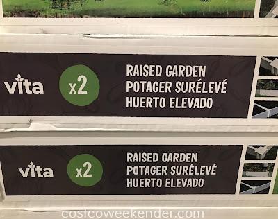 Vita White Vinyl Raised Garden Bed: great for any backyard