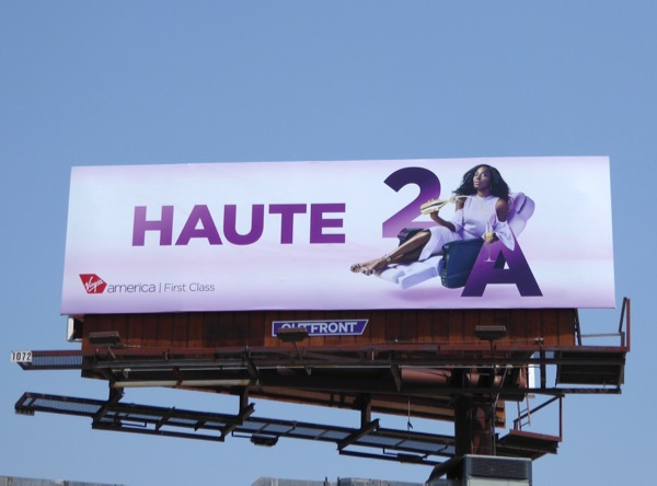 Virgin America First Class Haute billboard
