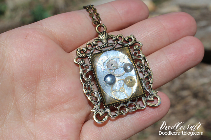 Doodlecraft steampunk resin pendants diy its easy to make yourself mozeypictures Gallery