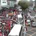 Manifestantes seguem em passeata contra reforma previdenciária e trabalhista
