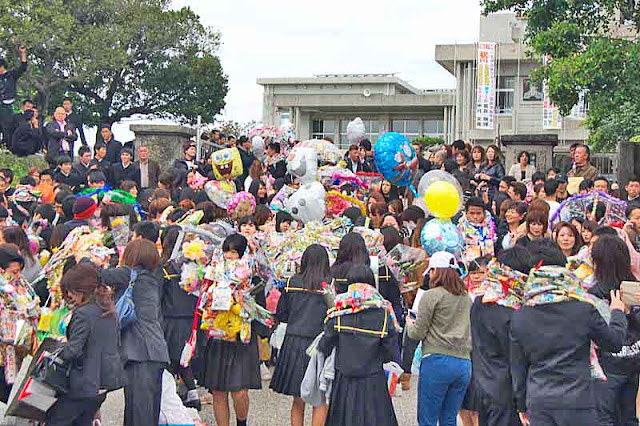 Ginoza High School,graduates, 2016 graduation, outdoors