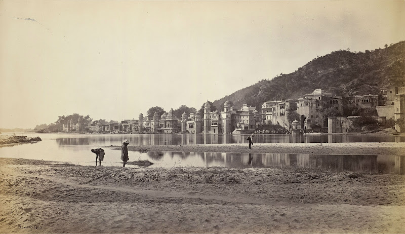 Haridwar from opposite bank of the Ganges - Circa 1866