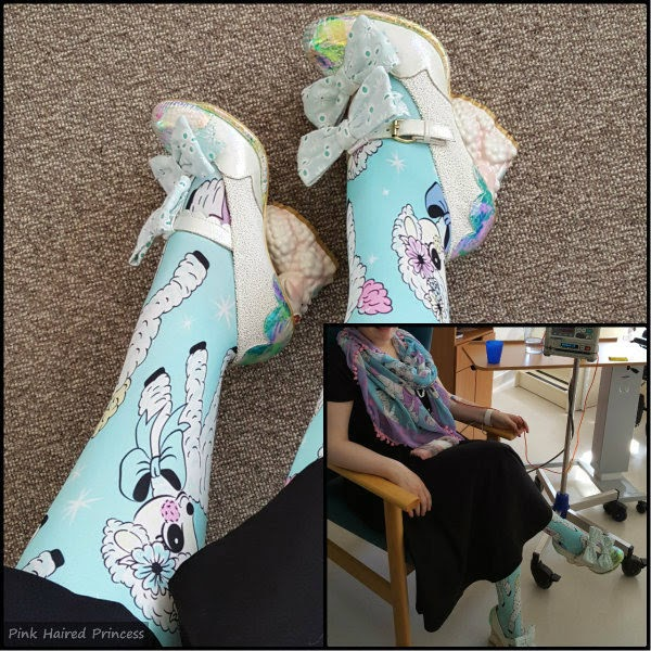 collage of legs wearing lamb tights and sitting wearing lamb tights, scarf and shoes