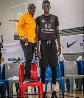 Tall Nigerian Basketball Player