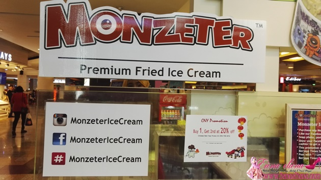 Aiskrim Gulung Monzeter Premium Fried Ice Cream