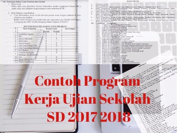 Program Kerja Ujian Sekolah SD 2017 2018