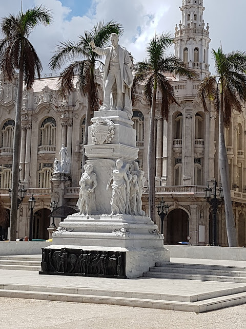 A statue of Jose Marti in Parque Central, Havana