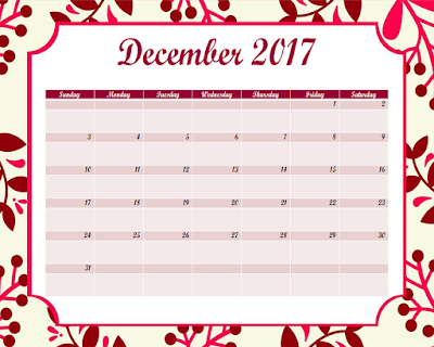 2017 calendar - free printable