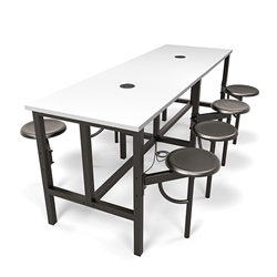 OFM Powered Table with Swivel Out Seats