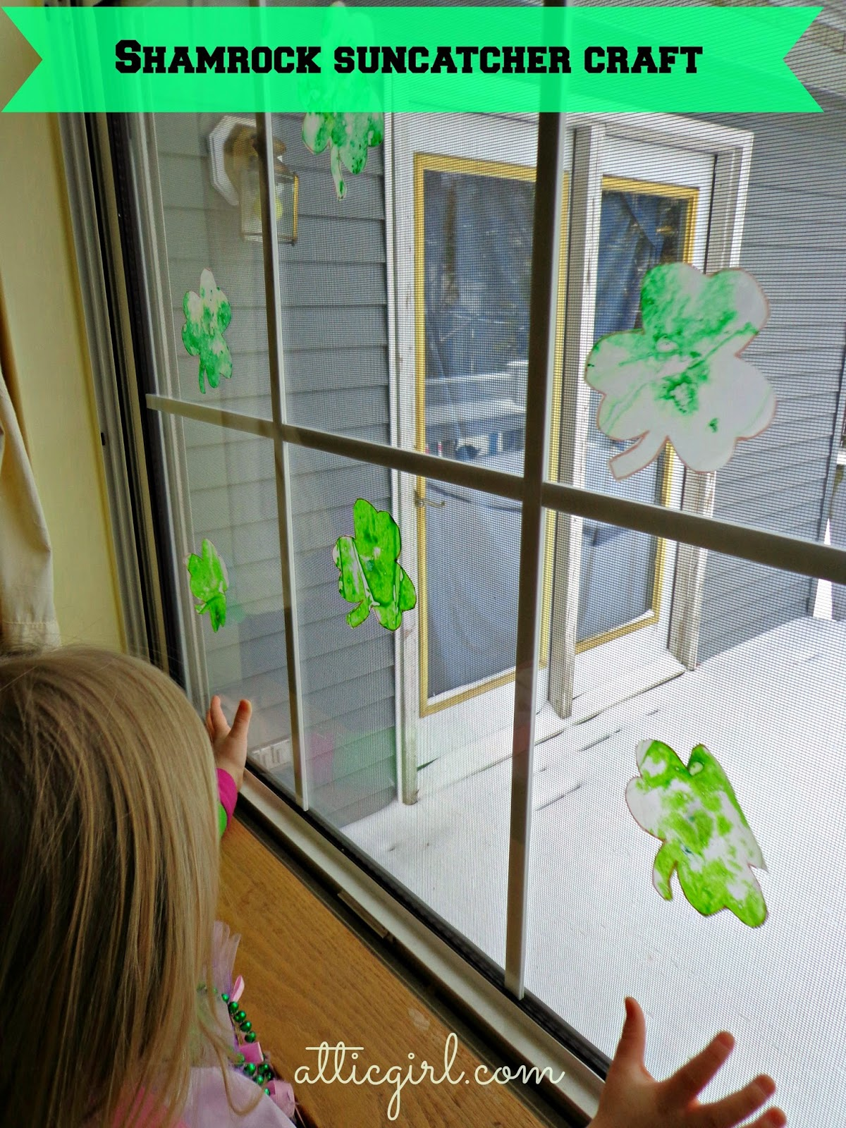 Shamrock Suncatcher Craft For Preschoolers St Patrick S