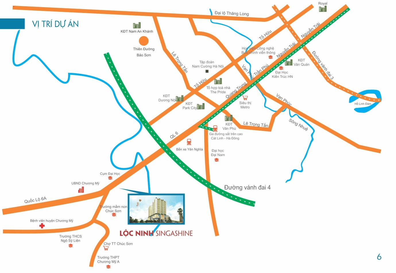 Vị trí Lộc Ninh Singashine