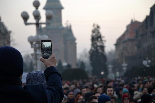 manifestazione in romania