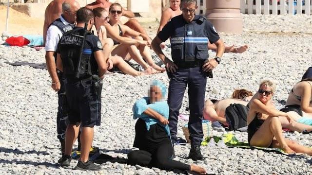 Policías obligan a desvestirse a mujer musulmana en playa de Francia