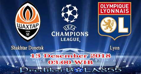 Prediksi Bola855 Shakhtar Donetsk vs Lyon 13 Desember 2018