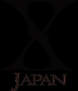 X Japan の背景透過ロゴ 黒