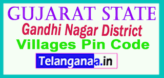 Gandhi Nagar District Pin Codes in Gujarat State