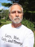 Hal Brown in Three Stooges Bush t-shirt