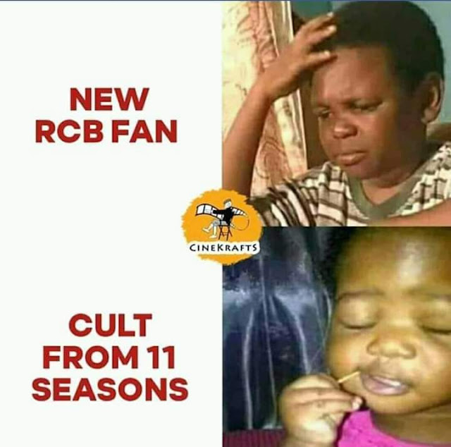 RCB fans jokes and memes