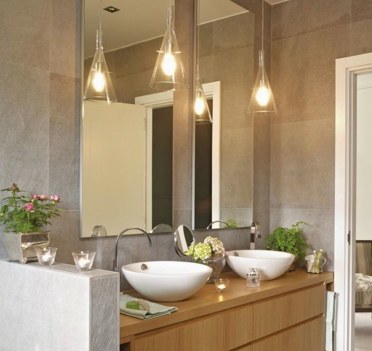 Elegant modern bathroom lighting ideas: LED bathroom lights