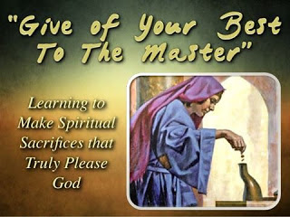 Spiritual Sacrifices That Truly Pleases God