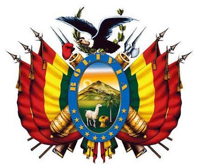 Dibujo del escudo Nacional de Bolivia a color