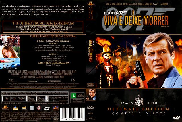 Capa DVD Com 007 Viva e Deixe Morrer