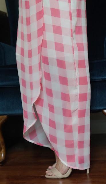 AMI Clubwear pink gingham dress