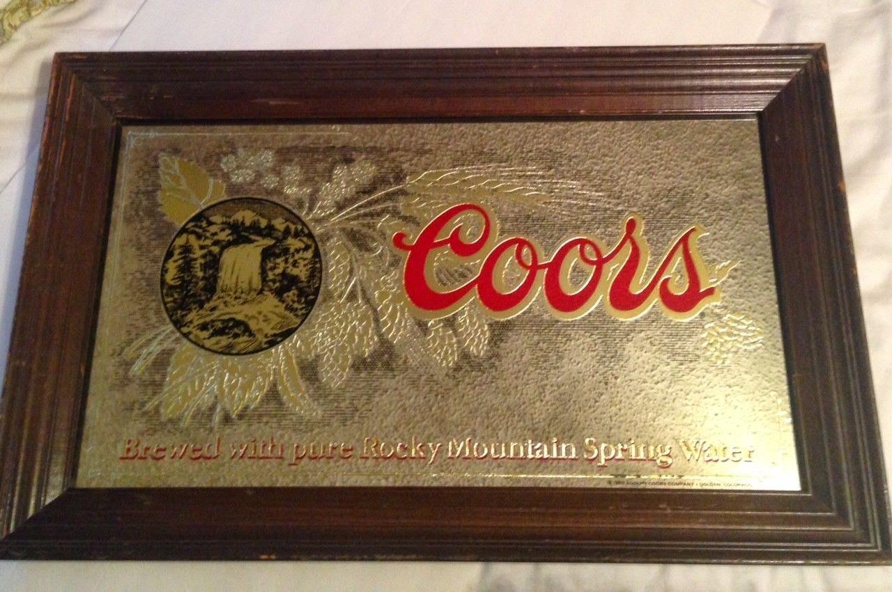 Johnny Boys Finds Vintage Coors Beer Mirror 1980