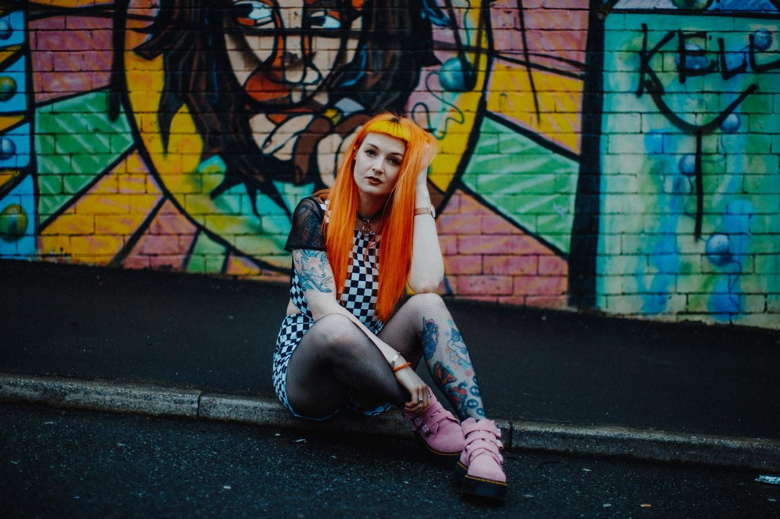 Alternative fashion blogger foxtailz styles tallulahs treads checkerboard