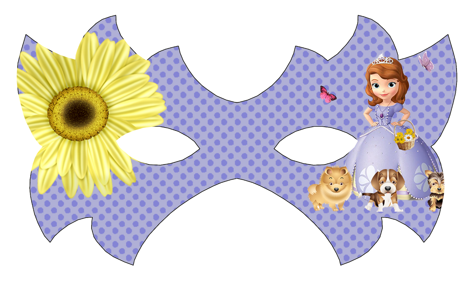 Sofia the First Free Printable Mask.