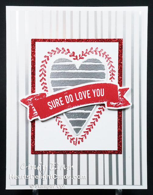 Heart's Delight Cards, Heart Happiness, Sure Do Love You, Occasions 2018, Stampin' Up!, Love, Valentine,