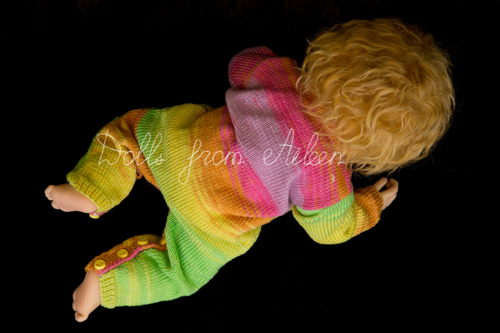 ooak posable baby doll crawling