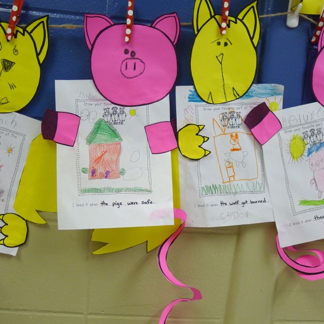 The three little pigs writing activities for first grade