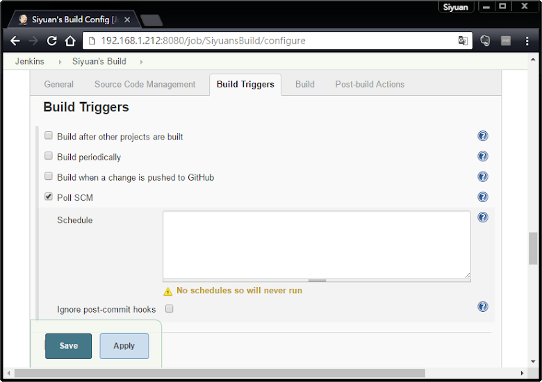Build triggers in Jenkins