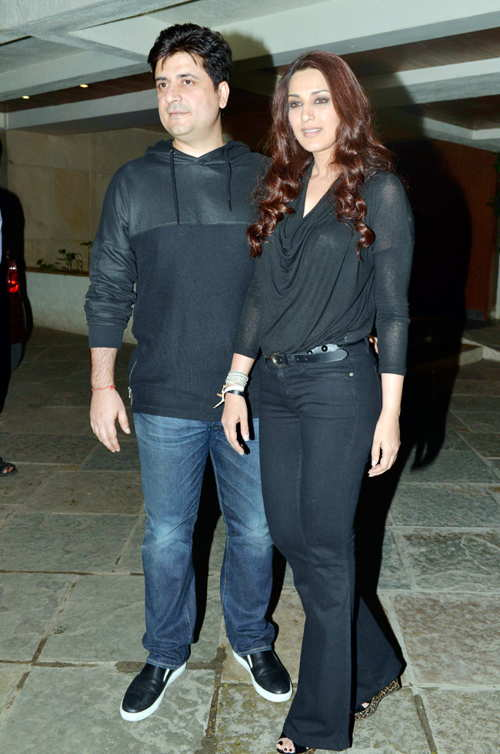 sonali bendre with husband goldi