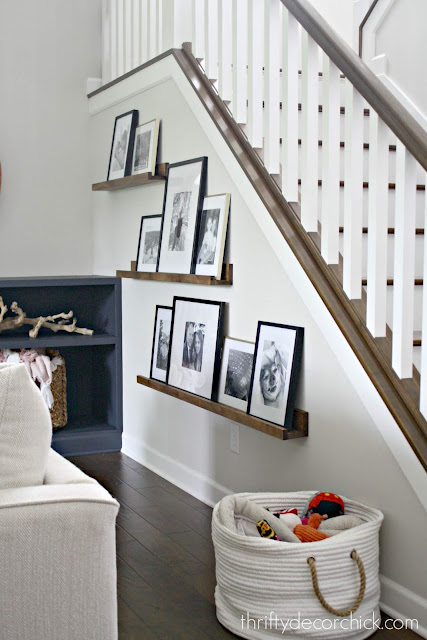 Pottery Barn picture ledges for a fraction of the price