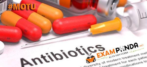 Staff Nurse Exam MCQ on AntiBiotics Objective Questions