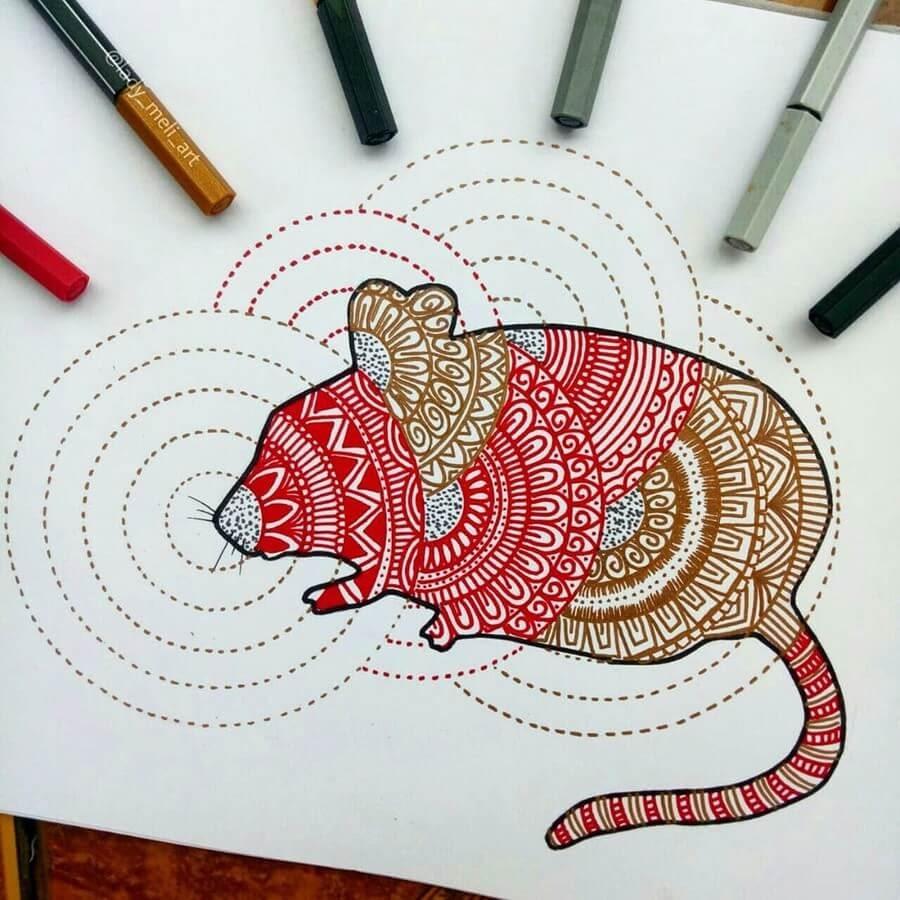03-Chinese-Year-of-the-Rat-lady_meli_art-Mandala-Designs-www-designstack-co