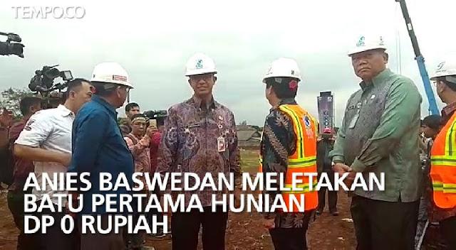 Anies: Program DP 0 Rupiah tak bisa Dibandingkan dengan Rusunawa Ahok