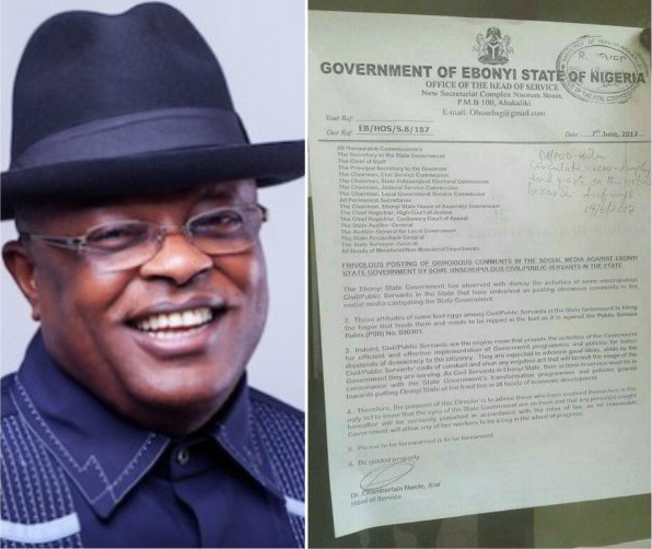 Ebonyi State Government allegedly bans Civil Servants from using Facebook