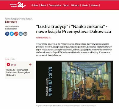 https://polskieradio24.pl/130/5557/Artykul/2272718,Lustra-tradycji-i-Nauka-znikania-nowe-ksiazki-Przemyslawa-Dakowicza