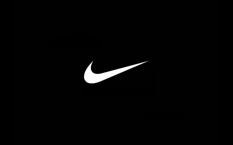 Nike logo black simple desktop wallpaper