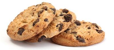 Ilustração de cookies para promover o curso de biscoitos americanos