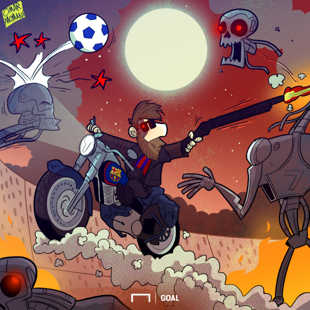 Messi is the football Terminator