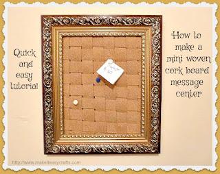 Mini woven cork board