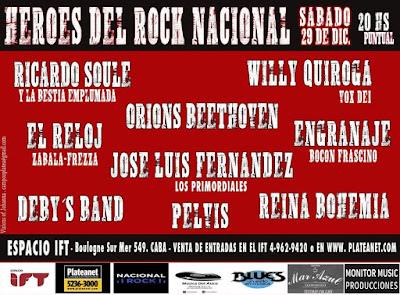 HEROES DEL ROCK NACIONAL.